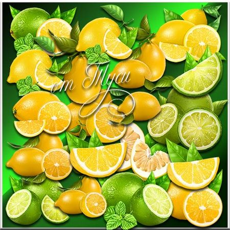 lemon clipart with transparent background