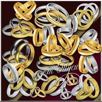 Clipart Gold and silver rings ( psd, 29 png, transparent, download )