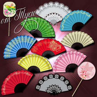 Japanese fan clipart ( psd, 12 png, transparent, download )