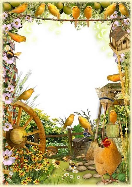 Photoshop Frame   Summer Village Garden
