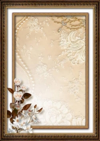 Gold Frame with white flowers