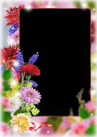 Flower photoshop frame template - Be most fun