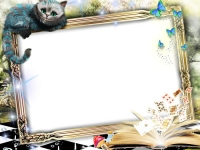Photo Frame Alice In Wonderland Psd Png Download Transparent