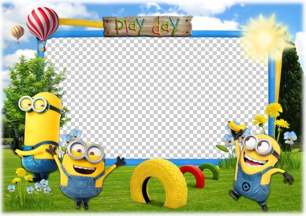 Play Day with the Minions - Photoshop frame for baby photos ...