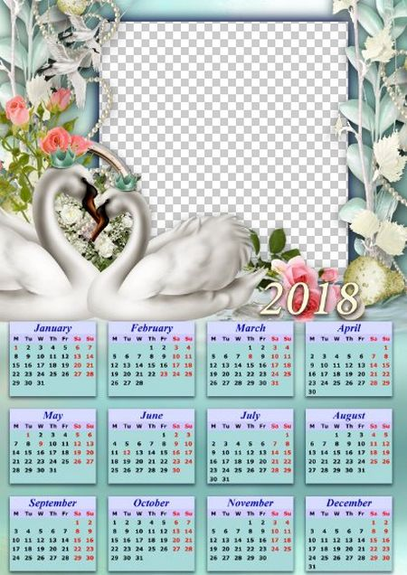 2018 wedding calendar psd png