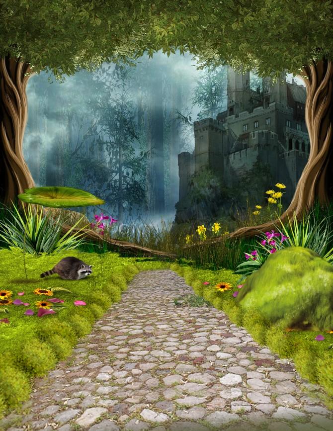 Октябрь, сказочный лес картинки для фотошопа
