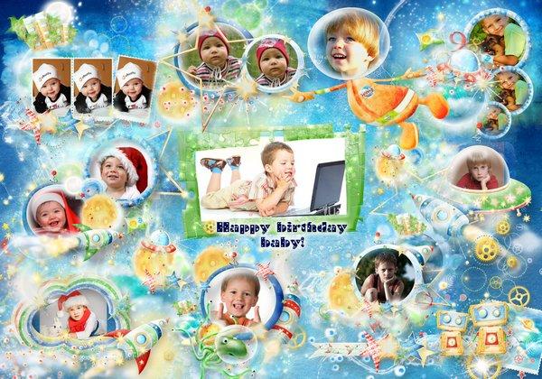 Kids Birthday Frame Collage Download Happy Birthday Frame For Boy