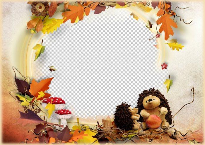 Child frame Autumn motive, PSD, PNG, download. Transparent PNG Frame ...