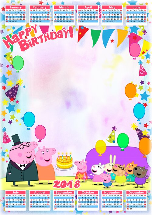Birthday with Peppa Pig