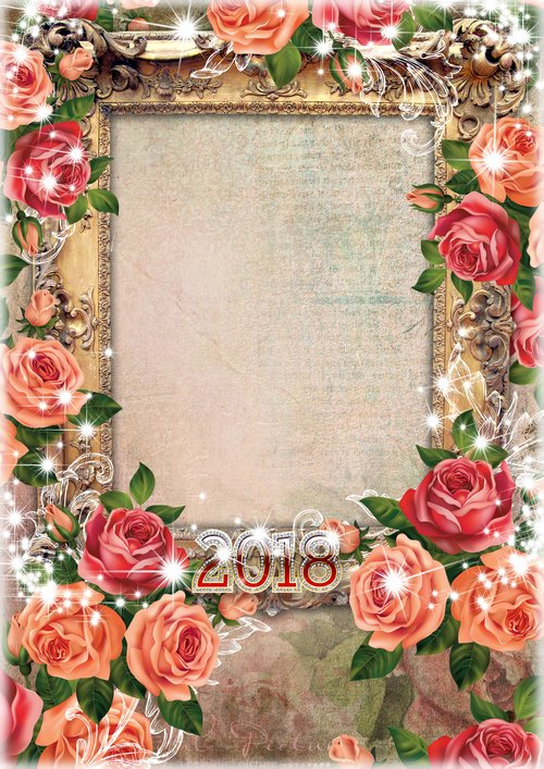 Romantic frames, photo frames, PNG, PSD, | Free download