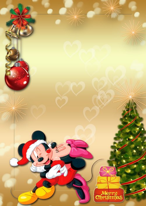 main free photo frames children baby winter holiday photo frame with mickey and minnie mouse merry christmas psd png download - Merry Christmas Mickey Mouse