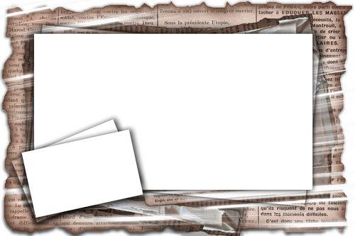 Photo frame - Newspaper news | paper frame. Transparent PNG Frame ...