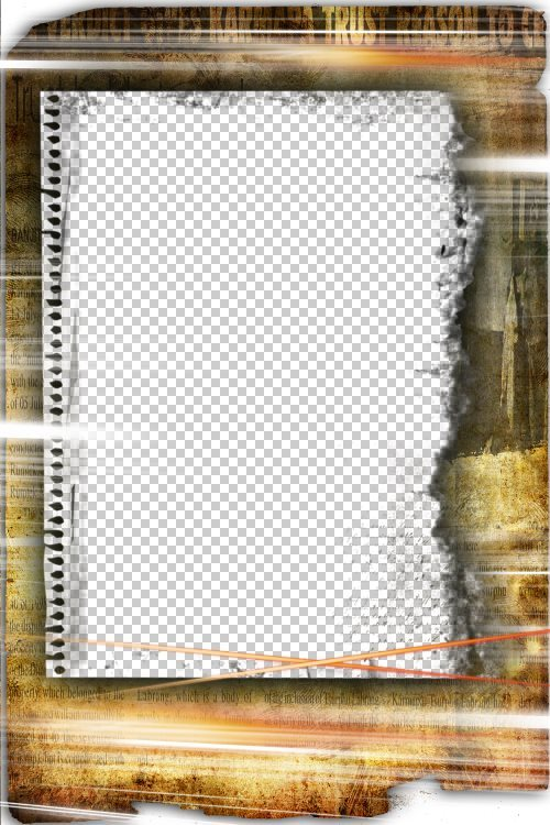 Photo frame - The Newspaper | paper photo frame. Transparent PNG ...