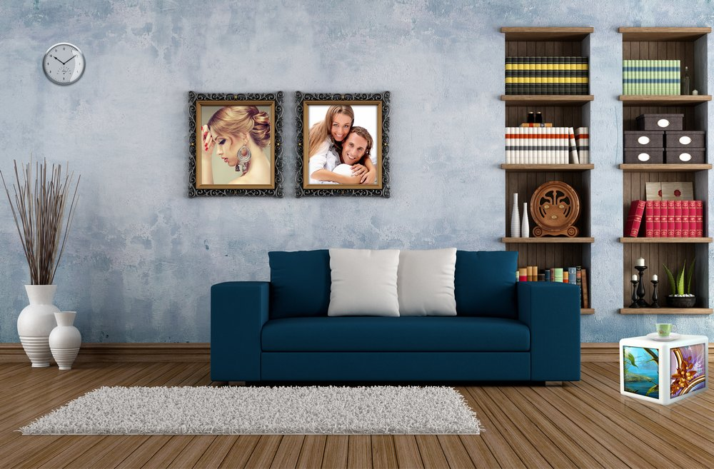Mockup Interior And Paintings Home Design Free Psd File Psd