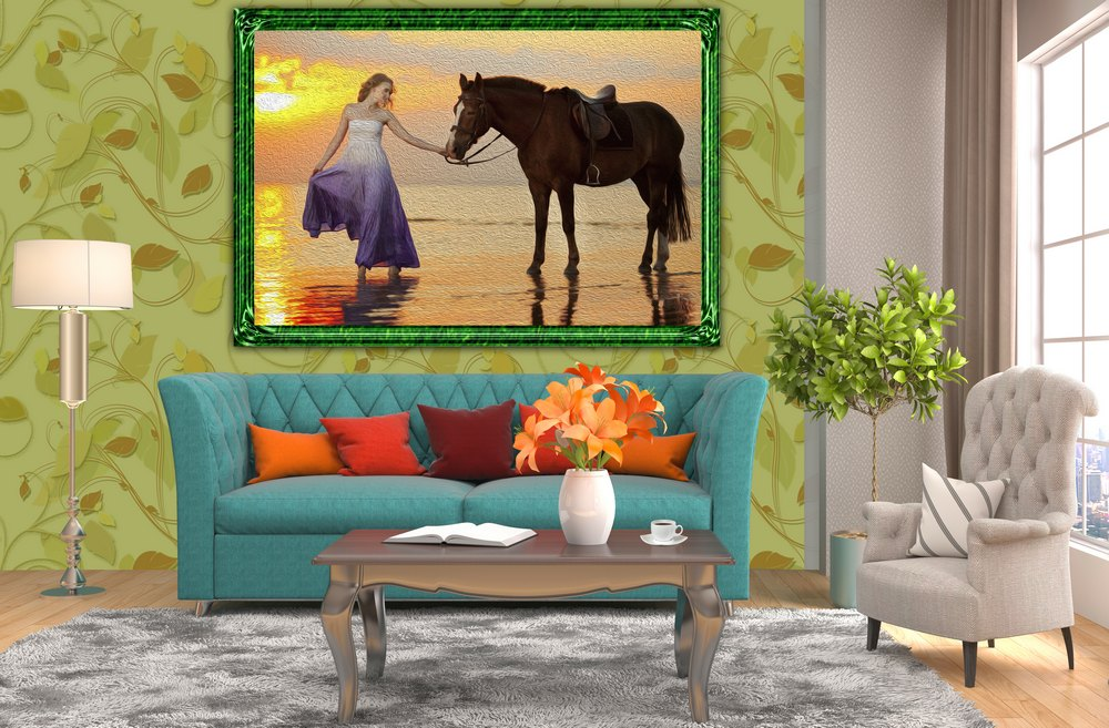 Free Psd Mockup Interior And Paintings Psd File Free Template Download
