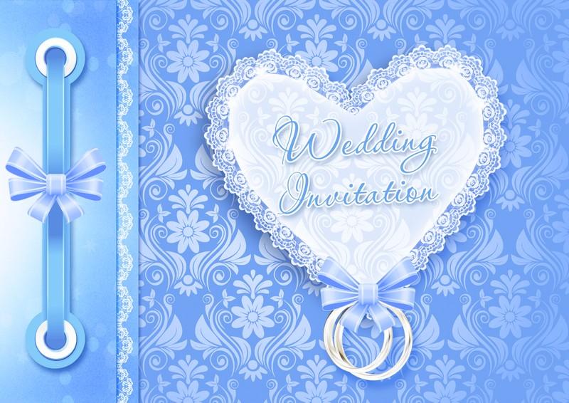 Свадебные открытки голубые, картинки