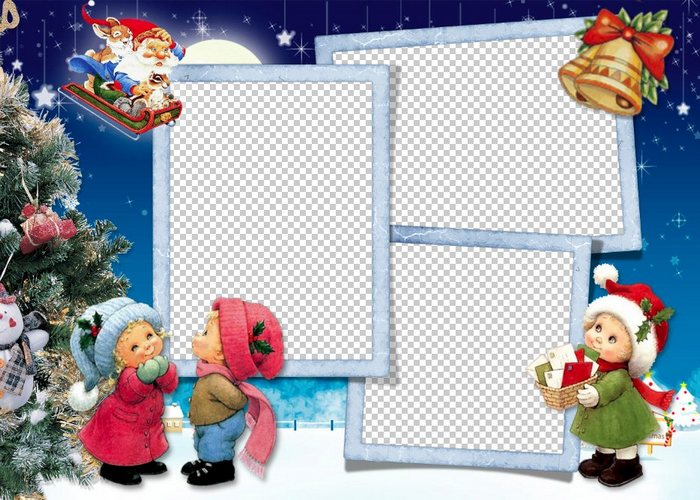 Christmas Picture Frame Psd Template Download Png Photo Frame