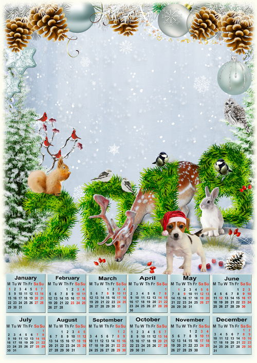 Free Psd Calender 2018 Transparent Png Image Fairy Forest