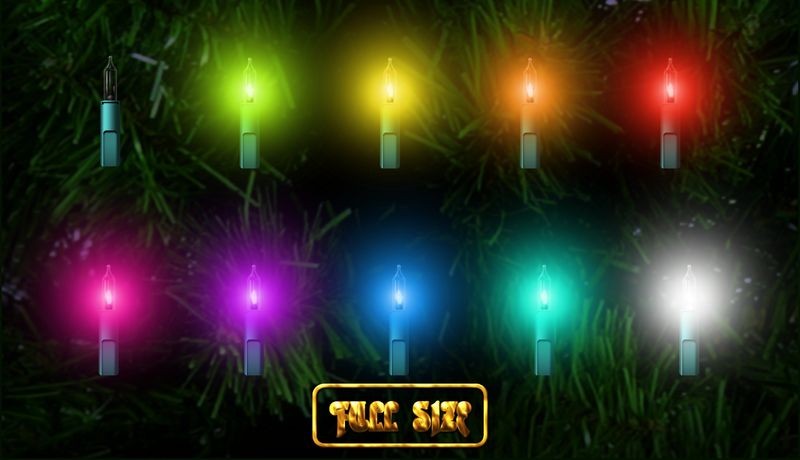 Christmas clipart light garland with transparent background free
