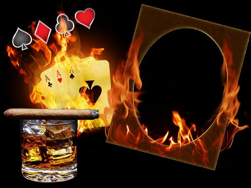 Plantilla del marco de fotos en llamas (PSD | PNG) descargar. Marco ...