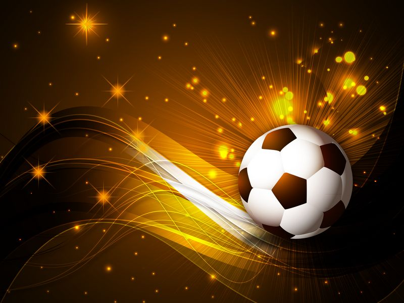 Soccer Ball bright Brown Background ( PSD ) Download  PSD