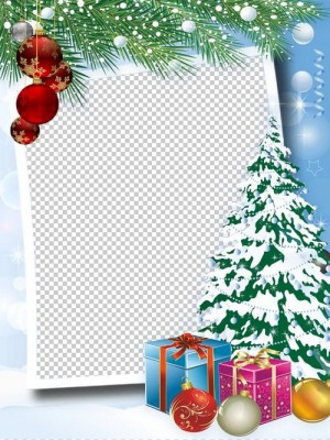 Christmas frames, photo frames, PNG, PSD | Free download