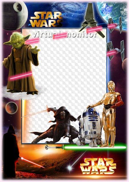 Star Wars - Photo frame ( PNG   PSD ). Transparent PNG Frame ...