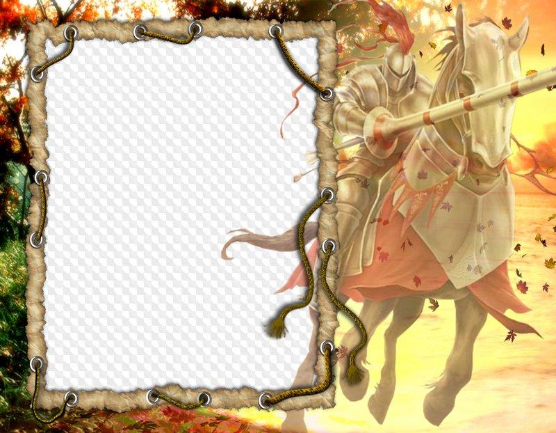 Marco para photoshop - Knight. Marco PNG transparente, PSD Plantilla ...