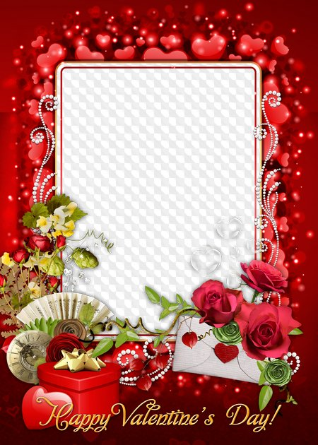 Happy Valentines Day Photo Frame Psd Png Transparent Png