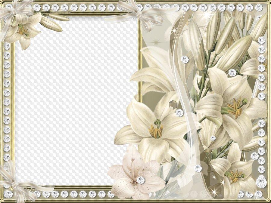 Marco de fotos - Preciosa Lily. Marco PNG transparente, Plantilla de ...
