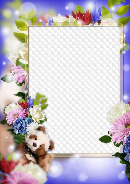 Marco de flor de primavera para Photoshop. Marco PNG transparente ...