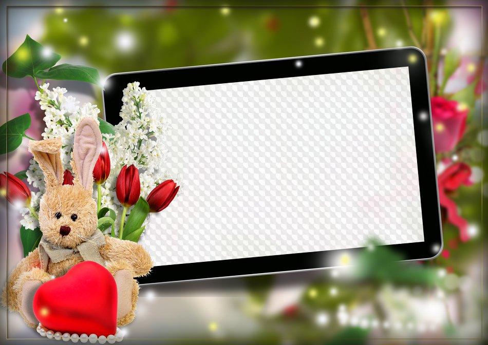 Romantic photo frame, PNG, PSD, template. Transparent PNG Frame, PSD ...