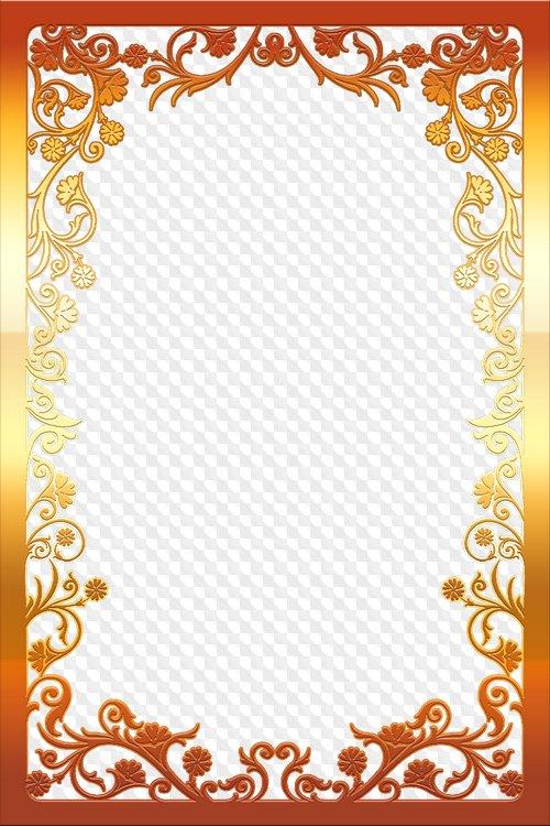 Lujo, marco dorado, para Diseño, formato PNG, descarga gratuita