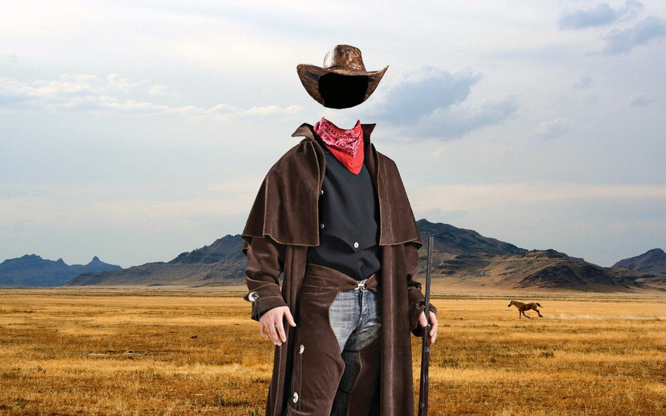 efd16a5043703 ... psd template for Photoshop. Cowboy - template for Photoshop