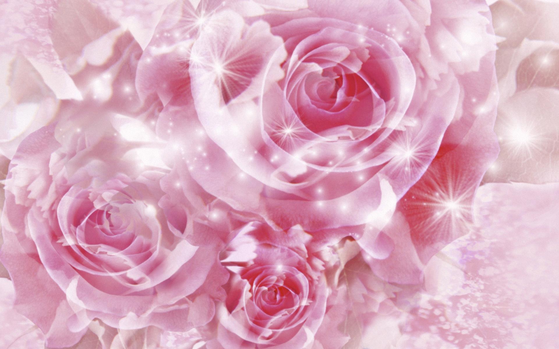 Фон с розами для открытки женщине
