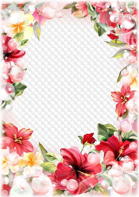 marco de mujer para photoshop flores de primavera 8 de marzo