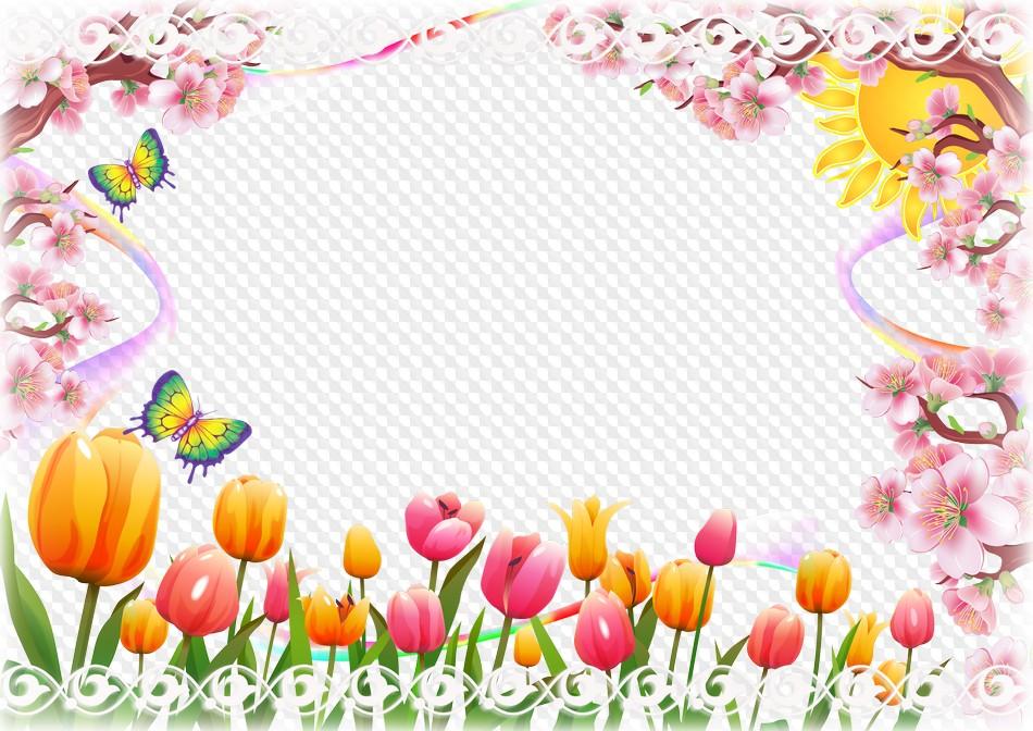 Marco de fotos de primavera - vacaciones de primavera. Marco PNG ...