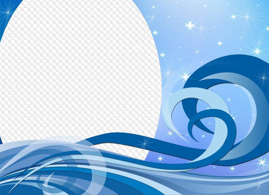 Suaves olas - Marco abstracto para Photoshop. Marco PNG transparente ...