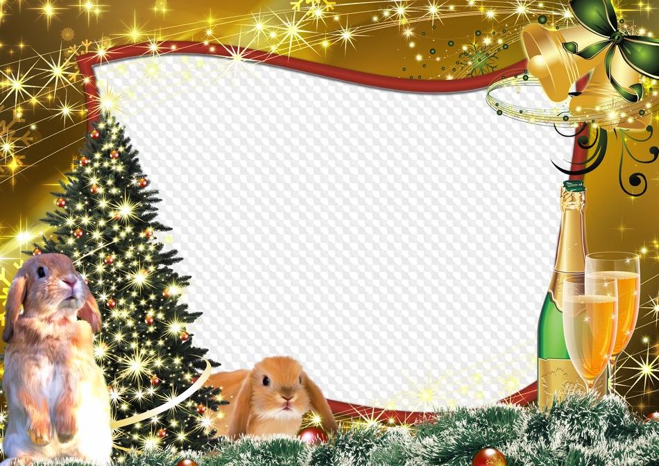 Marco para photoshop - Año de un conejo. Marco PNG transparente, PSD ...