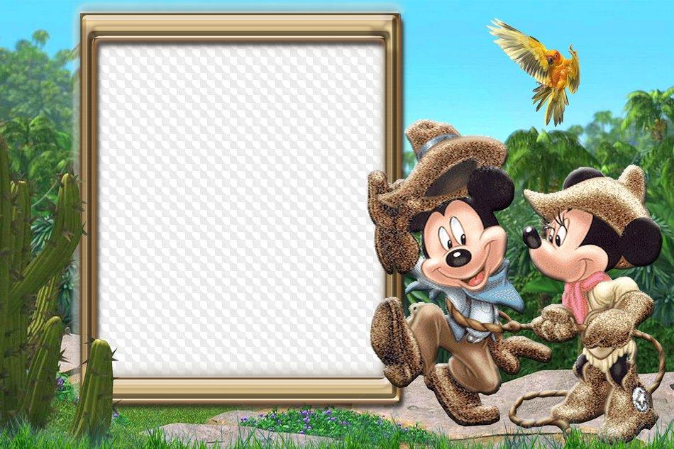 Marcos para fotos infantiles con Mickey Mouse. Marco PNG ...