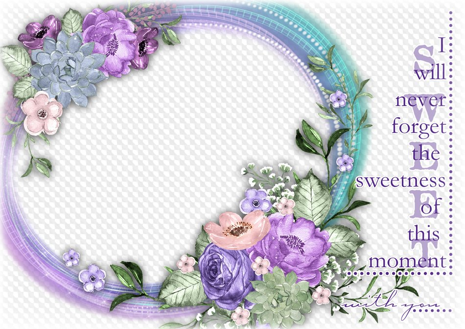 Flower photo frame beautiful flowers. Transparent PNG Frame, PSD ...