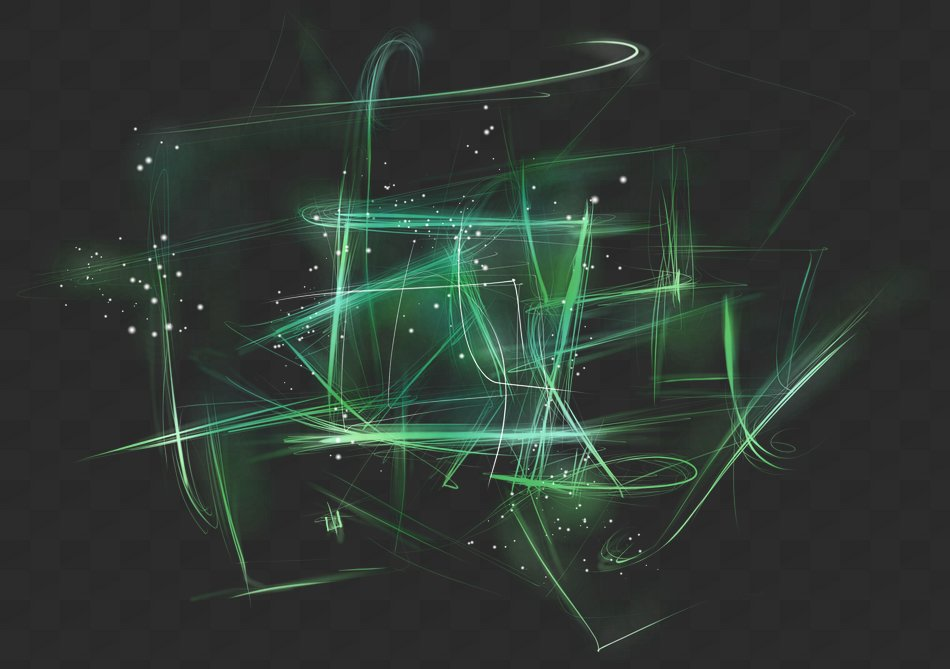 Abstract light, PNG, PSD, light effect with transparent background