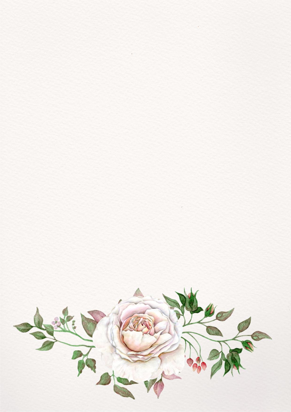 Первым днем, цветы для открытки на а4