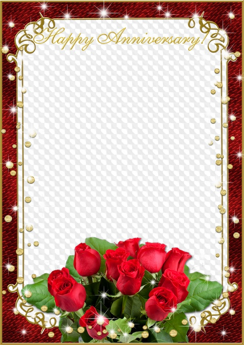 Photo Frame Happy Anniversary Transparent Png Frame Psd Layered