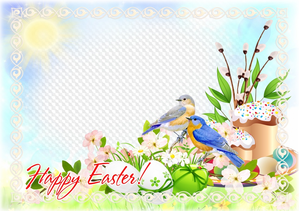 Happy Easter! photo frame, PNG, PSD. Transparent PNG Frame, Layered ...