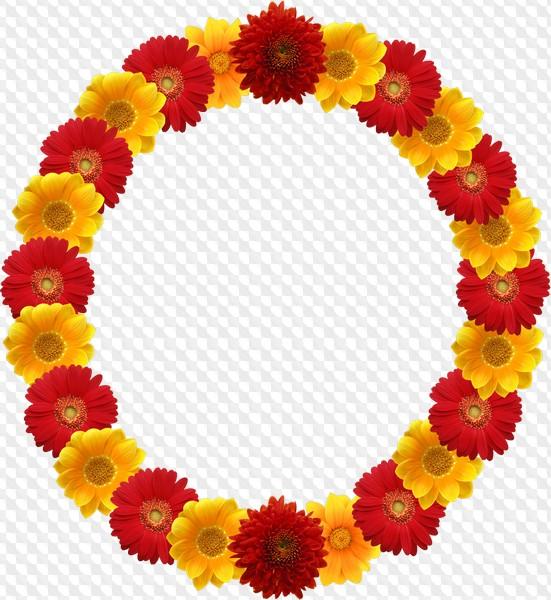 11 marcos redondos de la flor PNG, PSD