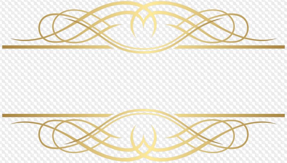 Decorative lines corner transparent