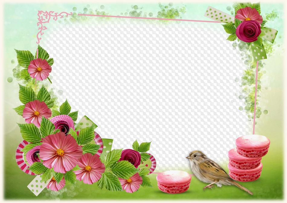 Flower frame psd download - Summer photo frame free psd template ...