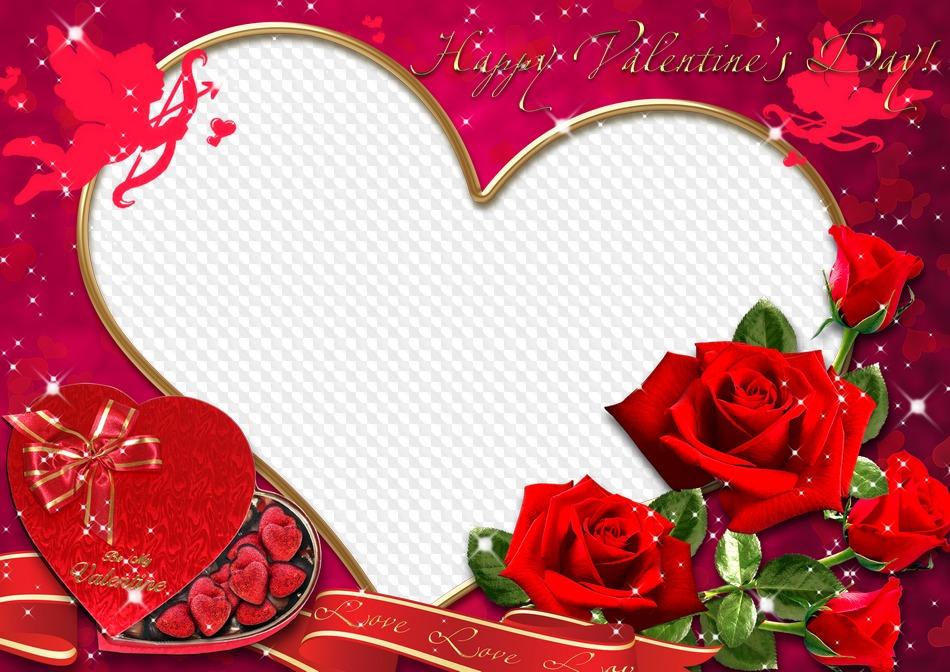 Romantic frame for Valentine