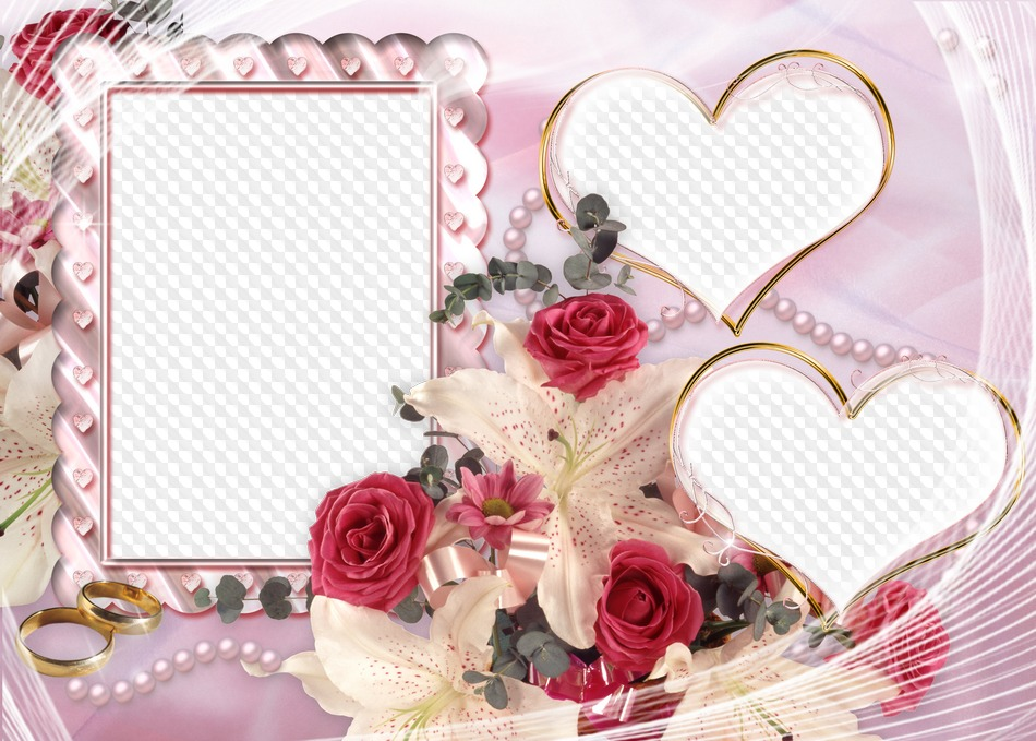 Beautiful frame png for your wedding photos free download ...